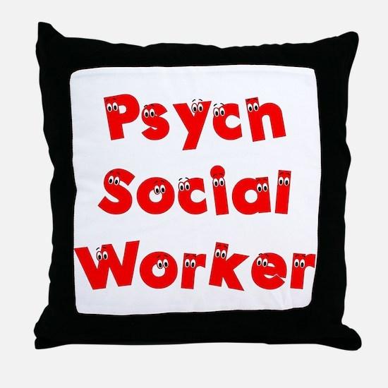 Psych Social Worker Throw Pillow