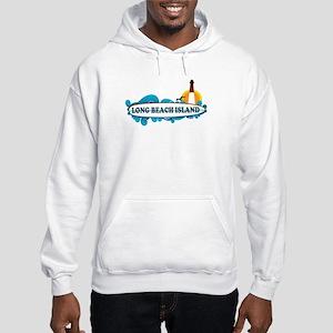Long Beach Island NJ - Surf Design Hooded Sweatshi