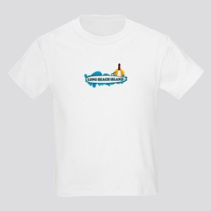 Long Beach Island NJ - Surf Design Kids Light T-Sh