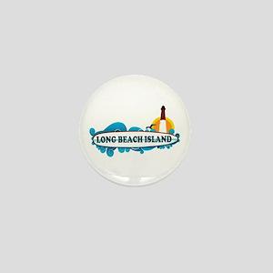 Long Beach Island NJ - Surf Design Mini Button