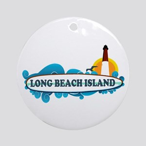 Long Beach Island NJ - Surf Design Ornament (Round
