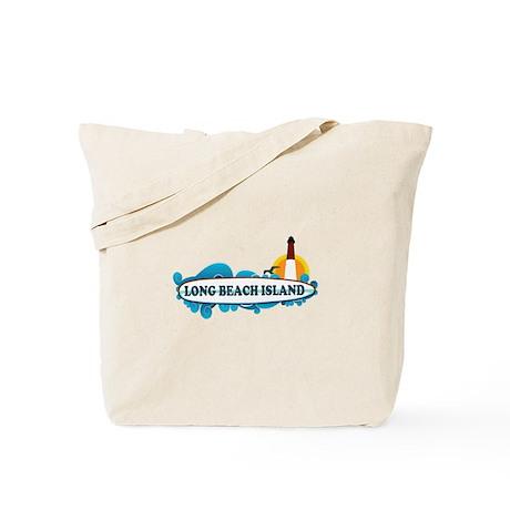 Long Beach Island NJ - Surf Design Tote Bag