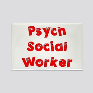 Psych Social Worker Rectangle Magnet