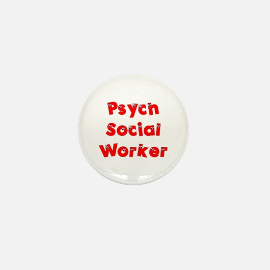Psych Social Worker Mini Button