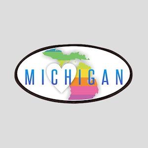 Michigan Heart Rainbow Patch