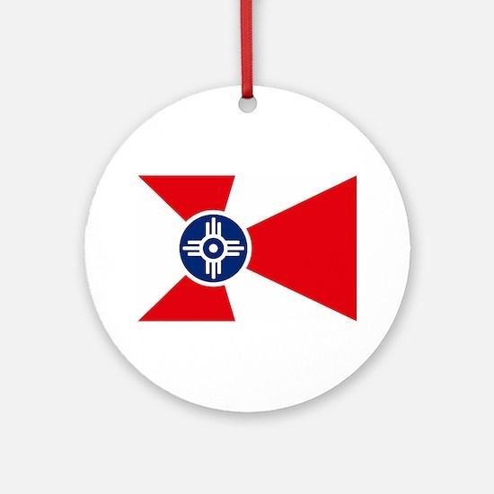 Wichita City Flag Ornament (Round)