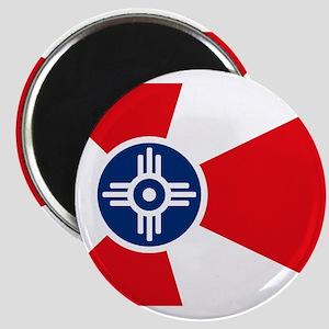 "Wichita City Flag 2.25"" Magnet (10 pack)"