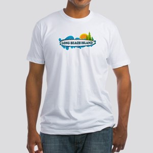 Long Beach Island NJ - Surf Design Fitted T-Shirt