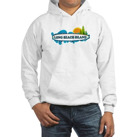 Long Beach Island NJ - Surf Design Hooded Sweatshi