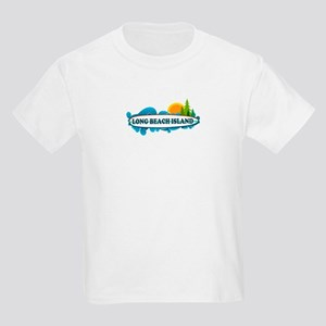 Long Beach Island NJ - Surf Design Kids Light T-Sh