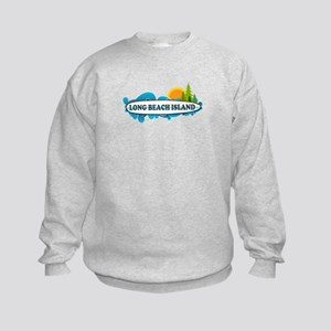 Long Beach Island NJ - Surf Design Kids Sweatshirt