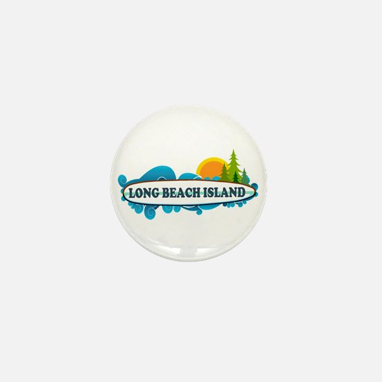 Long Beach Island NJ - Surf Design Mini Button
