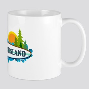 Long Beach Island NJ - Surf Design Mug