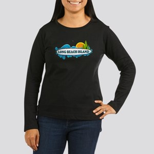Long Beach Island NJ - Surf Design Women's Long Sl