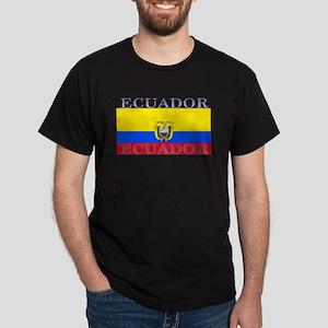 Ecuador Ecuadorian Flag Black T-Shirt