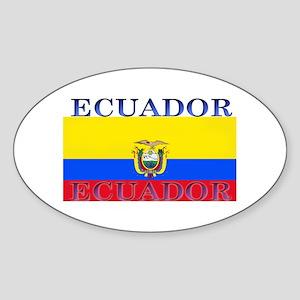 Ecuador Ecuadorian Flag Oval Sticker