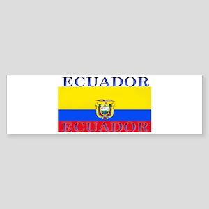Ecuador Ecuadorian Flag Bumper Sticker