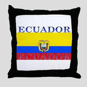 Ecuador Ecuadorian Flag Throw Pillow