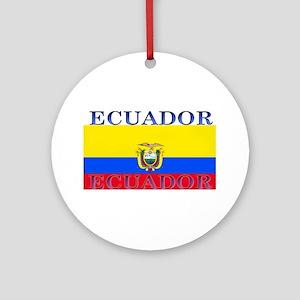 Ecuador Ecuadorian Flag Ornament (Round)