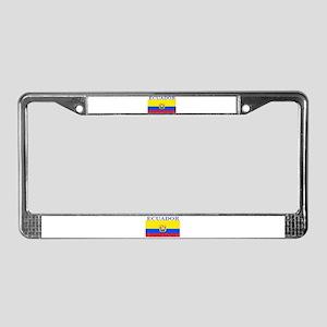 Ecuador Ecuadorian Flag License Plate Frame