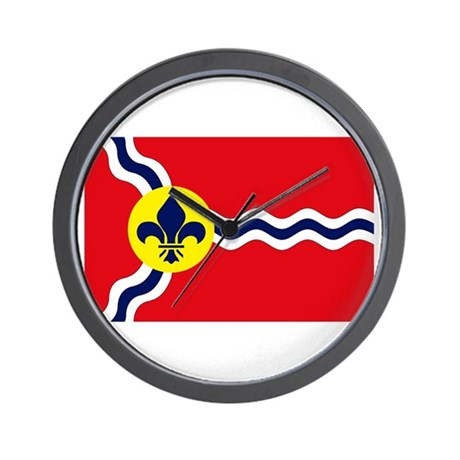 St. Louis Flag Wall Clock