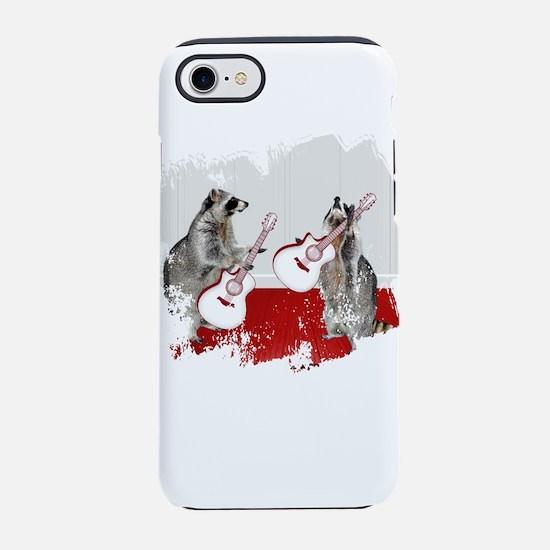 Raccoons Playing Guitar iPhone 7 Tough Case