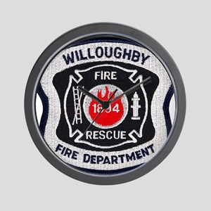 Willoughby Fire Department Wall Clock