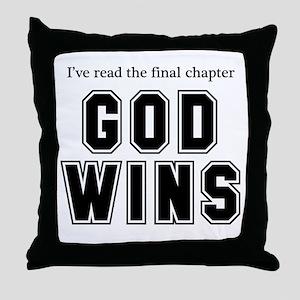 God Wins Throw Pillow