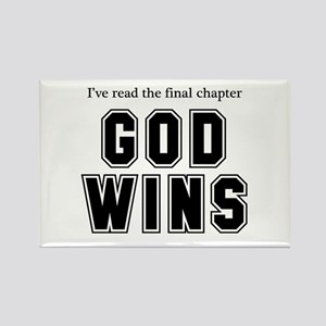 God Wins Rectangle Magnet (10 pack)