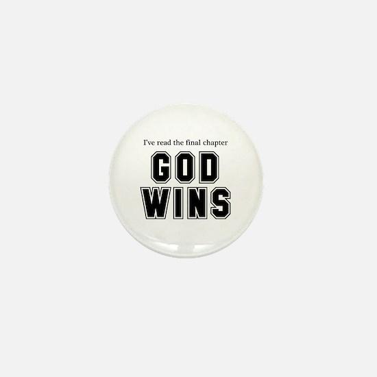 God Wins Mini Button