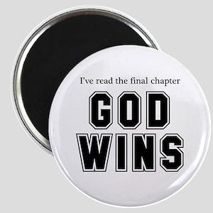 God Wins Magnet