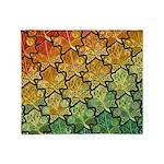 Celtic Leaf Tesselation Throw Blanket