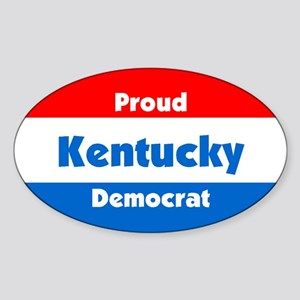 Proud Kentucky Democrat Oval Sticker