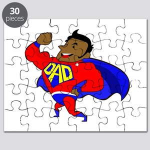 fathers day black super dad Puzzle