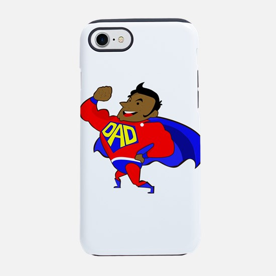 fathers day black super dad iPhone 7 Tough Case