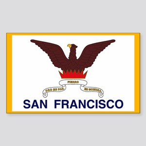 San Francisco Flag Rectangle Sticker