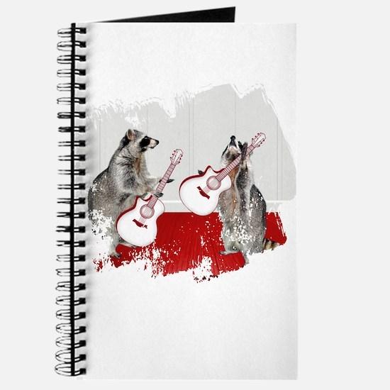 Raccoons Playing Guitar Journal