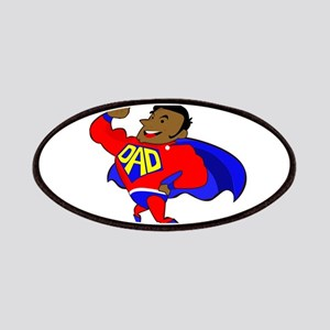 fathers day black super dad Patch