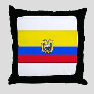 Ecuador Ecuadorian Blank Flag Throw Pillow