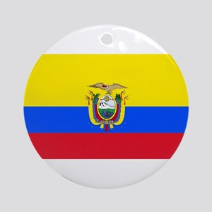 Ecuador Ecuadorian Blank Flag Ornament (Round)