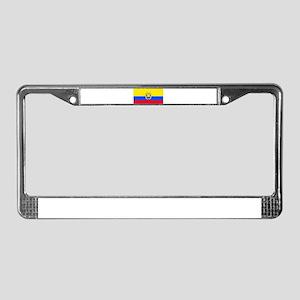 Ecuador Ecuadorian Blank Flag License Plate Frame