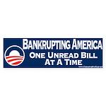 Obama is Bankrupting America Sticker