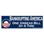 Obama is Bankrupting America Sticker