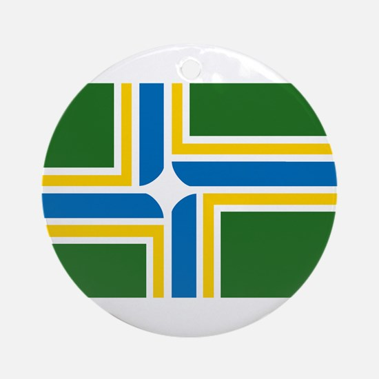 Portland Flag Ornament (Round)
