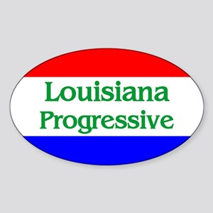 Louisiana Progressive Oval Sticker