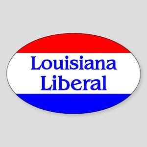 Louisiana Liberal Oval Sticker