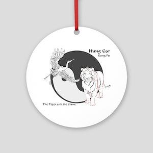 Hung Gar Kung Fu Logo Ornament (Round)