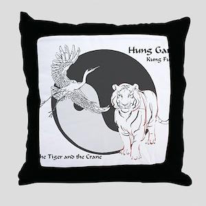 Hung Gar Kung Fu Logo Throw Pillow
