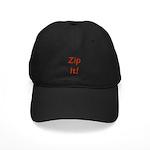 Morton Downey Jr. Zip It Black Cap