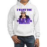 Let Me Touch Your Breasts Hooded Sweatshirt